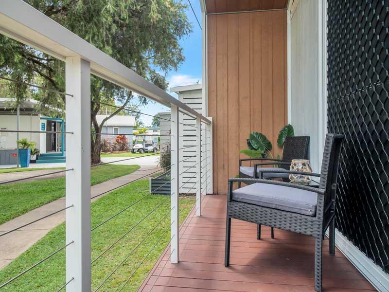 Brisbane North Rental Village Condo Deck