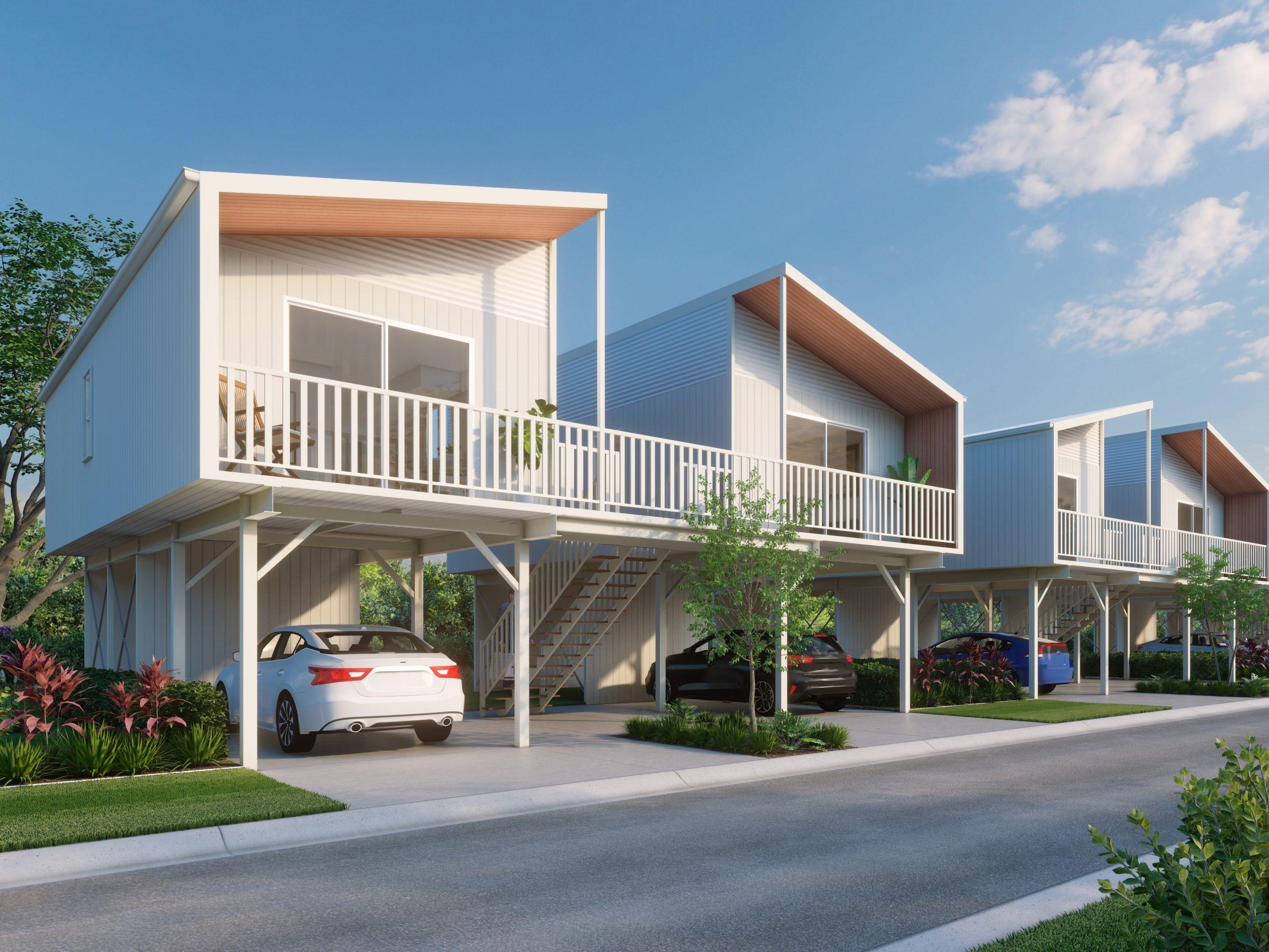 Brisbane North Rental Village Condo Render Exterior